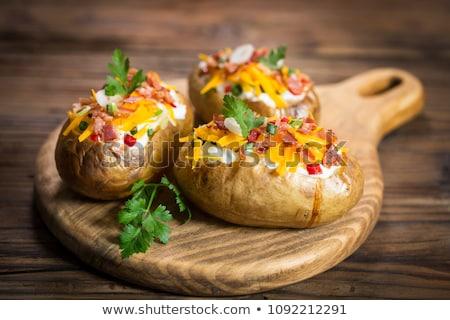 Kabát krumpli só vaj zöldség senki Stock fotó © Digifoodstock