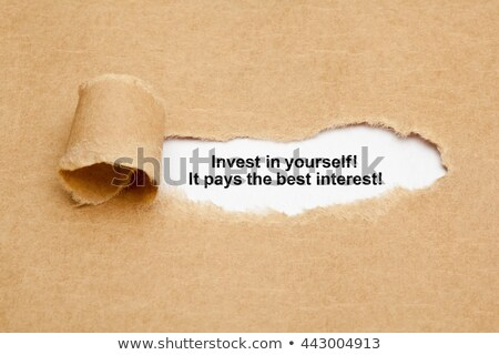 Selbst zitieren Papier besten hinter Packpapier Stock foto © ivelin