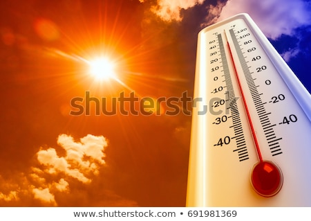 Hot Sun Thermometer Temperature Stock photo © Lightsource