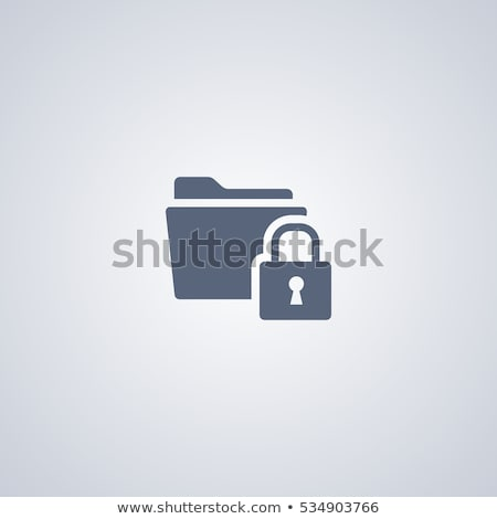Sicurezza accesso parola d'ordine protezione icona design Foto d'archivio © WaD