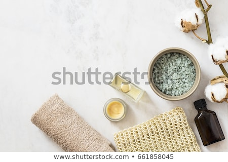 Woman in towel laying on massage table Stock photo © dash