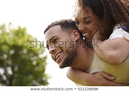 közelkép · férfi · nő · ház · kulcsok · ingatlan - stock fotó © deandrobot