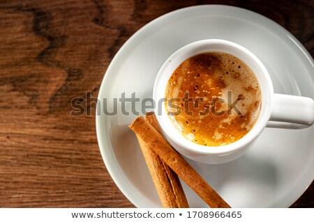 カップ エスプレッソ シナモンスティック 木製のテーブル 食品 木材 ストックフォト © mady70