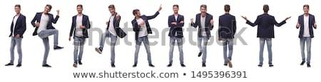 elegante · vent · verticaal · afbeelding · zakenman · naar - stockfoto © pressmaster