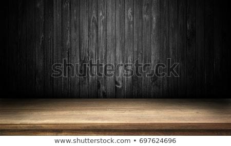 черная пятница деревянный стол слово служба часы ребенка Сток-фото © fuzzbones0