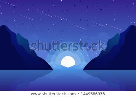Scene with fullmoon at night Stock photo © bluering