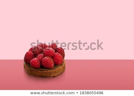 Mini chocolate cake with fresh raspberries and ice cream stock photo © Digifoodstock