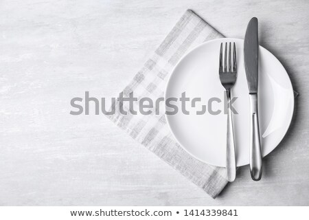 White napkin and cutlery Stock photo © Digifoodstock
