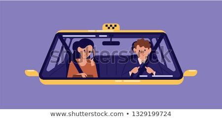 mężczyzna · kierowca · posiedzenia · samochodu · portret · przystojny - zdjęcia stock © konradbak
