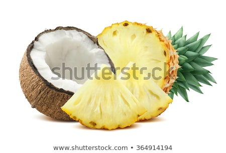 ананаса кокосового таблице продовольствие фон лет Сток-фото © racoolstudio