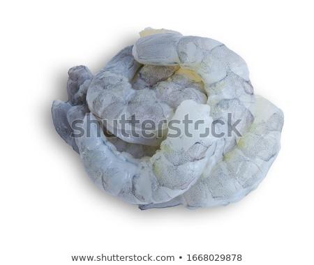 Ruw garnalen hoofd witte voedsel keuken Stockfoto © Saphira
