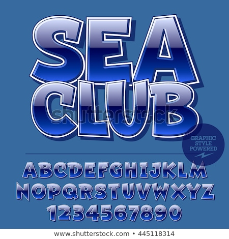 Marine alphabet and number set with nautical icons Stock photo © adrian_n