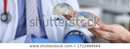Mooie vrouwelijke borst geïsoleerd witte Stockfoto © ssuaphoto
