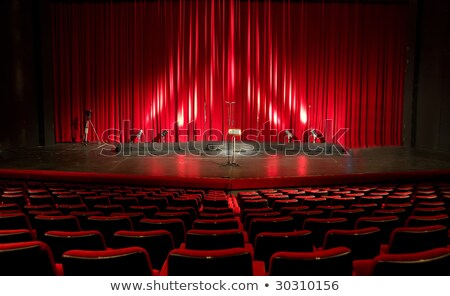 the end live stage red curtain stock photo © vector1st