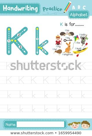 Flashcard letter K is for king Stock photo © bluering