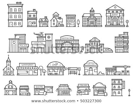budynku · policji · dział · architektury · ulicy - zdjęcia stock © rastudio