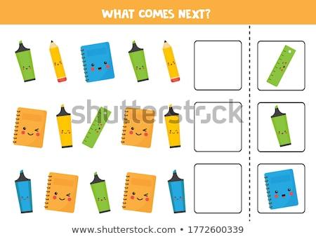 lápices · imagen · colorido · abierto · dibujo · álbum - foto stock © pressmaster