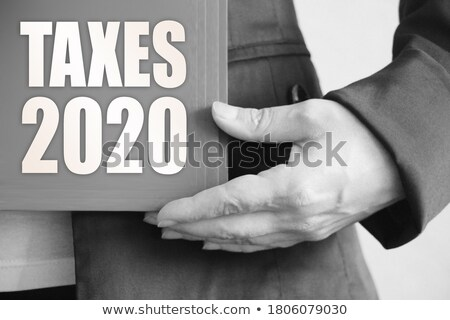 Blue folder with the label Tax Law Stock photo © Zerbor