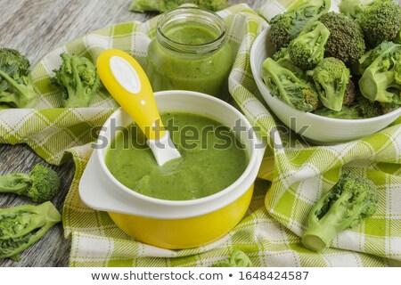 Brokkoli zöldség diéta vegetáriánus konyha Stock fotó © M-studio