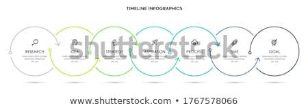 Modern infographics tasarım şablonu kâğıt soyut dünya Stok fotoğraf © sayver