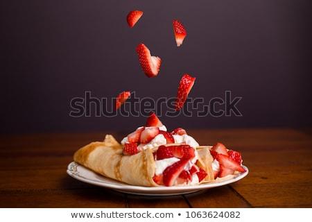 クレープ イチゴ 朝食 デザート 砂糖 ストックフォト © M-studio