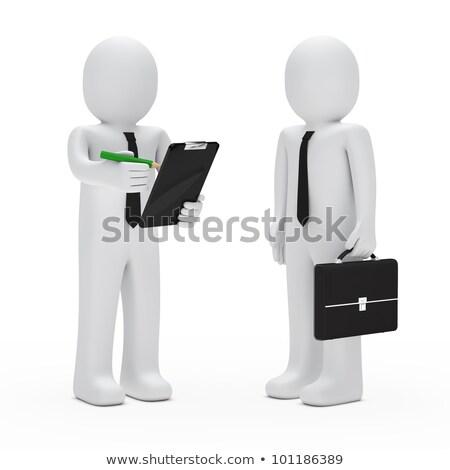 3D · 白の人々 · ビジネス · メタファー · 強い · リーダーシップ - ストックフォト © orla