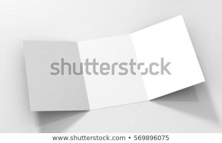brosúra · izolált · szürke · papír · marketing · fehér - stock fotó © cherezoff