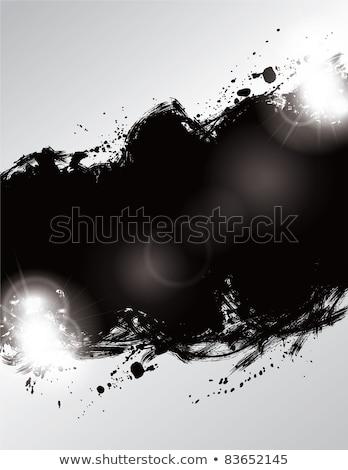 Zwarte inkt splatter licht effect water Stockfoto © SArts