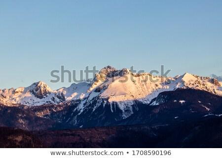 Triglav mountain peak covered in snow Stock photo © stevanovicigor