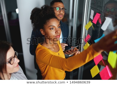 Sticky notes stuck on businessman stock photo © wavebreak_media