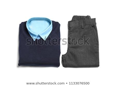 Schuluniform isoliert weiß Stock foto © kayros