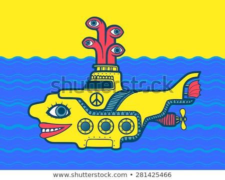 желтый подводная лодка шаблон дизайна вектора Сток-фото © Andrei_