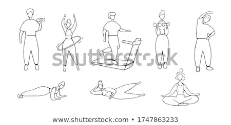 Doodle character for girl doing gymnastic Stock photo © bluering