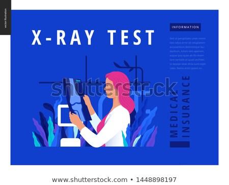 doctor examining radiograph vector illustration stock photo © rastudio