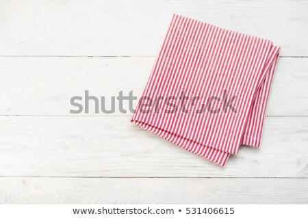 Red cloth table mat Stock photo © Digifoodstock