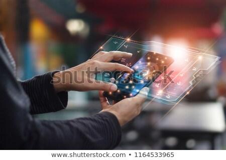 Hacker felhő alapú technológia hálózat figyelmeztetés illusztráció terv Stock fotó © alexmillos