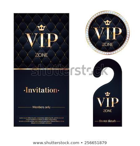 Vip club invitation modèle vecteur adhésion Photo stock © orson