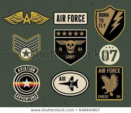 Zdjęcia stock: Military Symbol Set Army Patches Vector