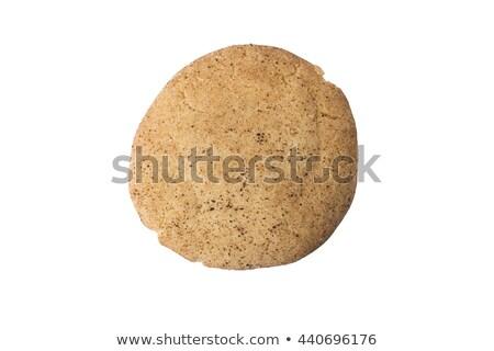 ストックフォト: シナモン · 砂糖 · クッキー · 全体 · 孤立した · 白