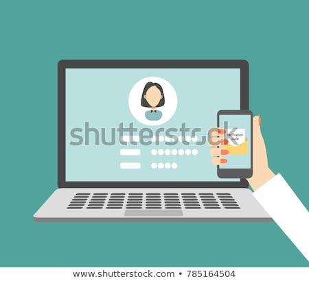 laptop · képernyő · adat · titkosítás · modern · munkahely - stock fotó © tashatuvango