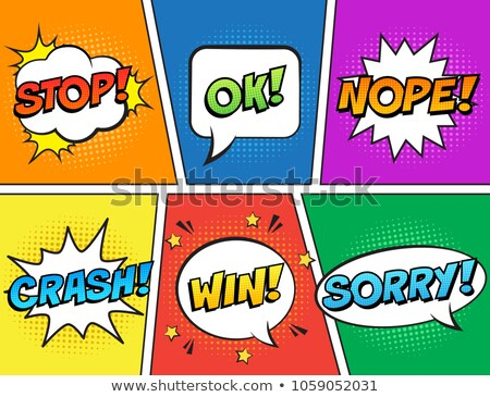 stop comic word Stock photo © studiostoks