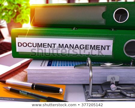 Green Office Folder with Inscription Document Management. Stock photo © tashatuvango