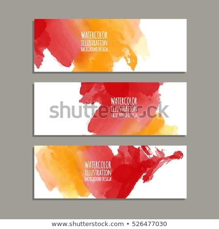 赤 · ブラシ · 孤立した · 白 · テクスチャ · 手 - ストックフォト © ivaleksa
