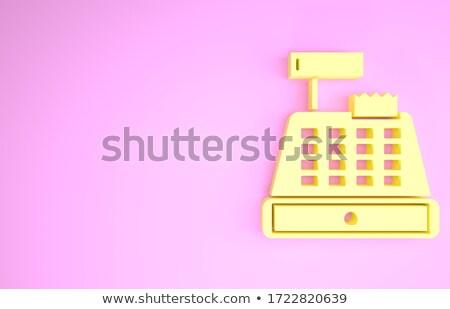 citromsárga · online · bolt · numerikus · billentyűzet · billentyűzet · 3D · fémes - stock fotó © tashatuvango