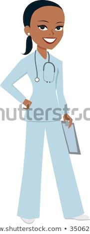 Avatar retrato retro enfermera arte pop mujer Foto stock © studiostoks