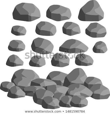Stone rock cartoon, broken boulder. vector Stock photo © Andrei_