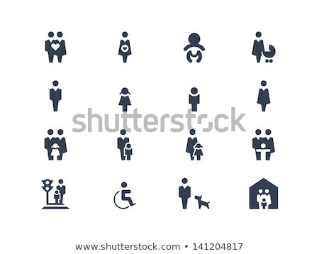 Icon disabled girl with a stroller Stock photo © Olena