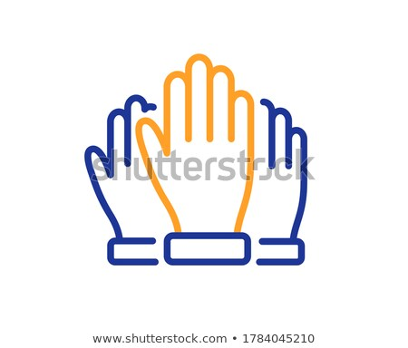 Voting concept in linear style silhouette Stock photo © Olena