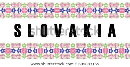 Slowakije motieven traditioneel etnische kostuum Stockfoto © tony4urban