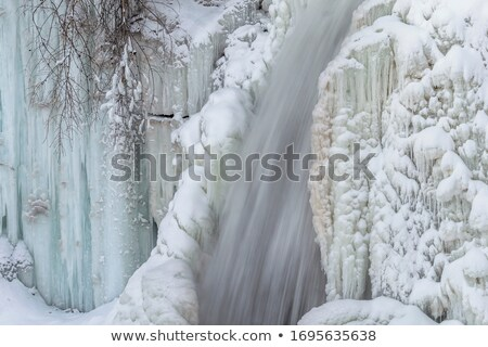 Stock photo: Detail frozen waterfalls